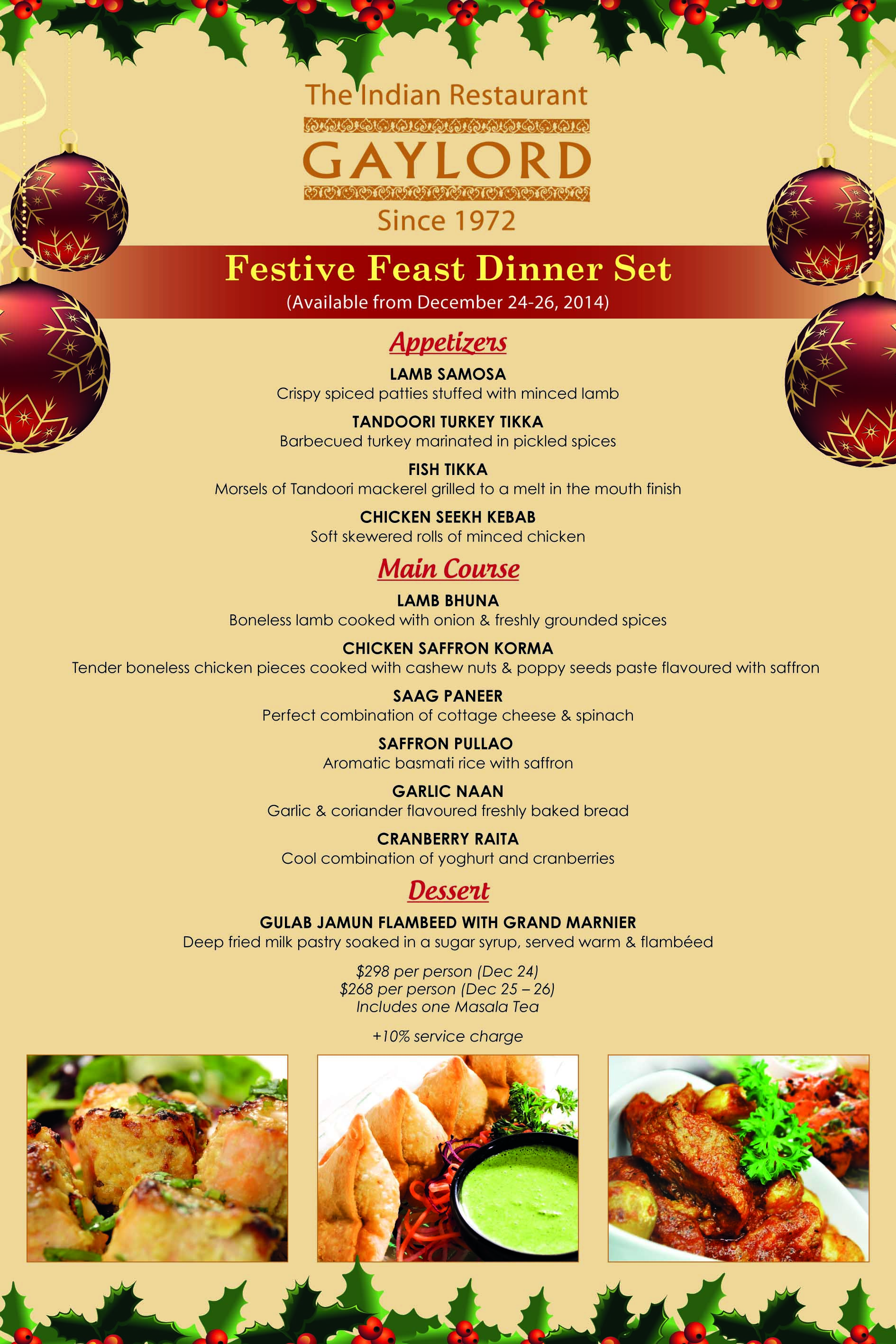 Christmas Restaurant Poster.Gaylord Indian Restaurant Christmas Festive Poster Mavens
